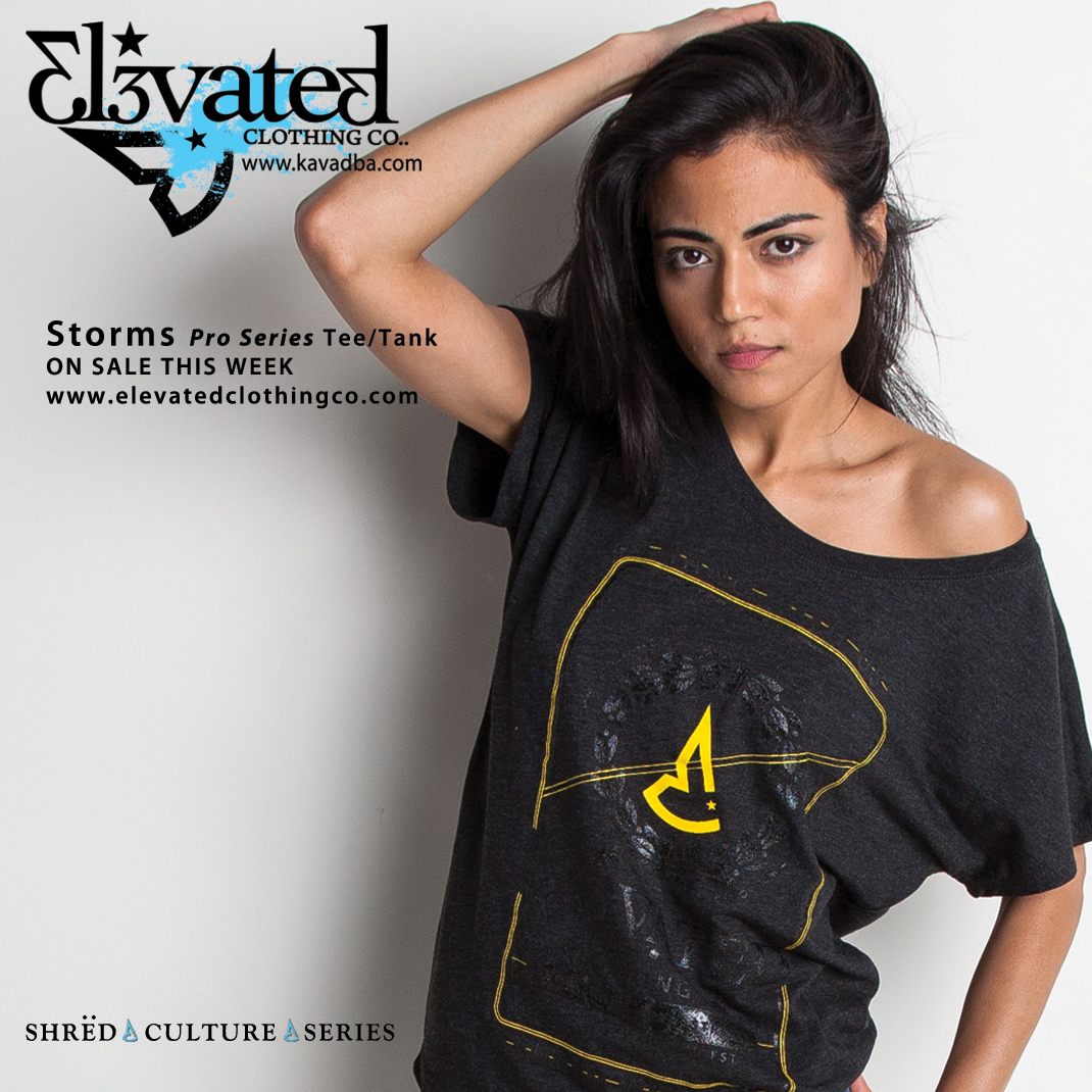 Elevated Clothing Girls Dolman Storms Wakeboard Tee