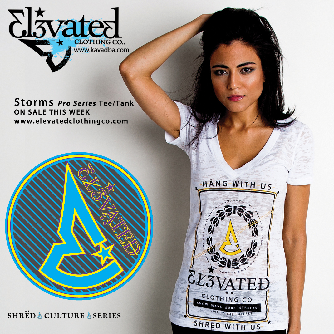 Elevated Clothing Girls Deep V Wakeboarding Tee