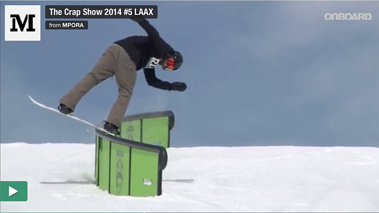the crap show, snowboarding Switzerland, laax