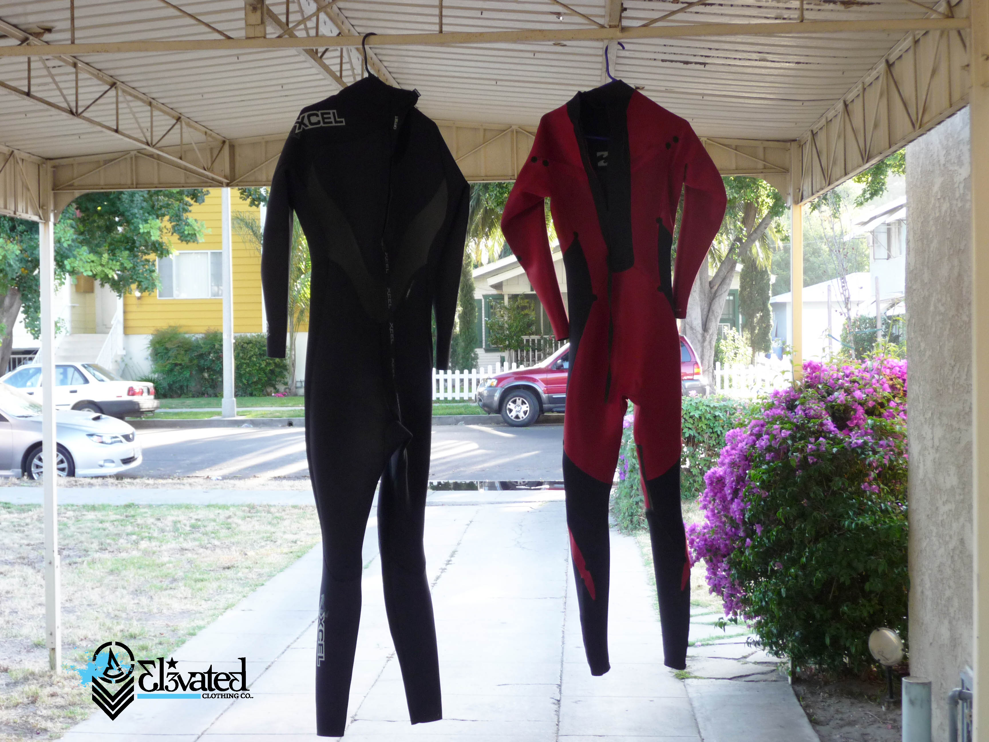 Air dry the wetsuits