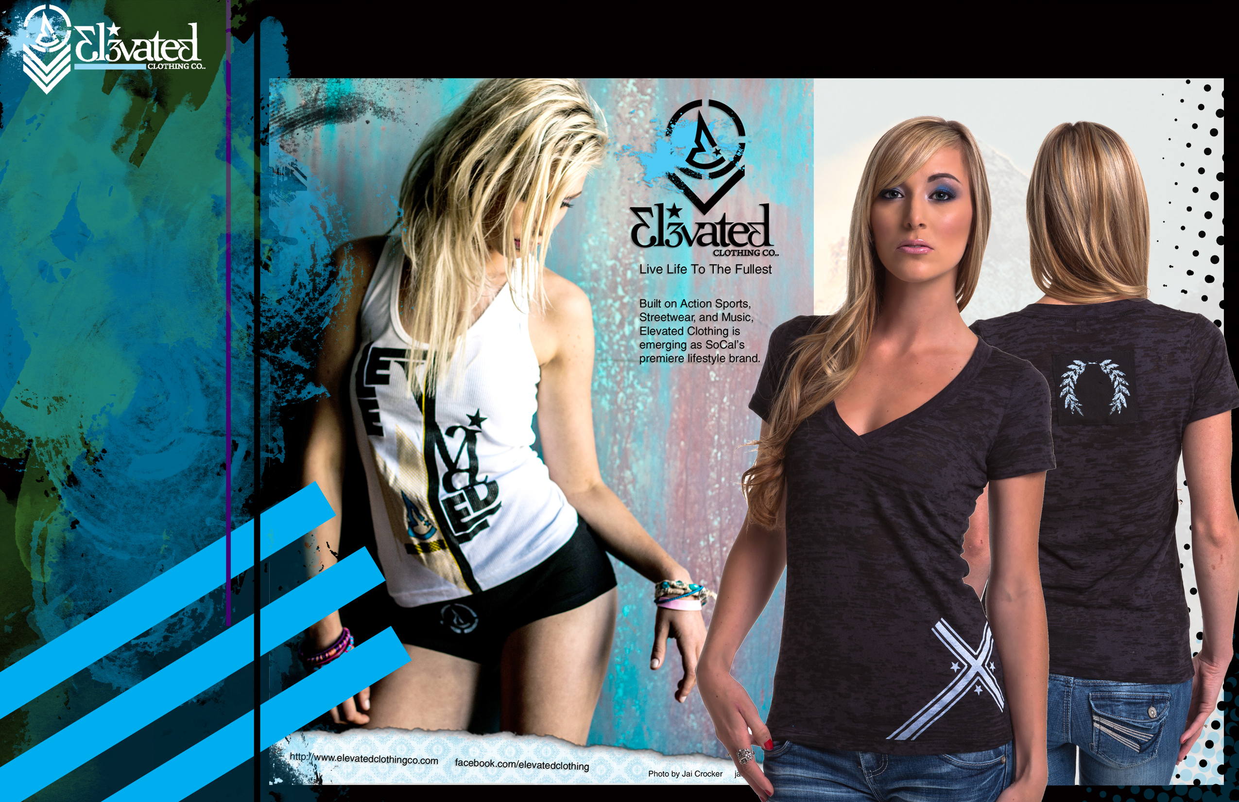 elevated clothing girls advertisement