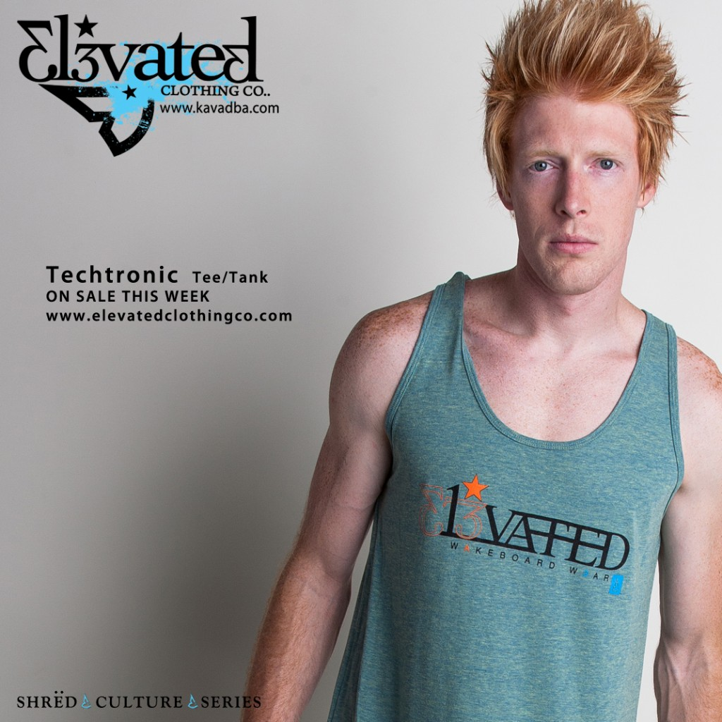 Wakeboard clothing Elevated Techtronic guys wakeboarding apparel brand