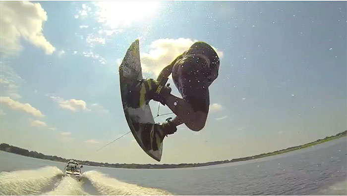 austin Hair elevated wakeboard clothing