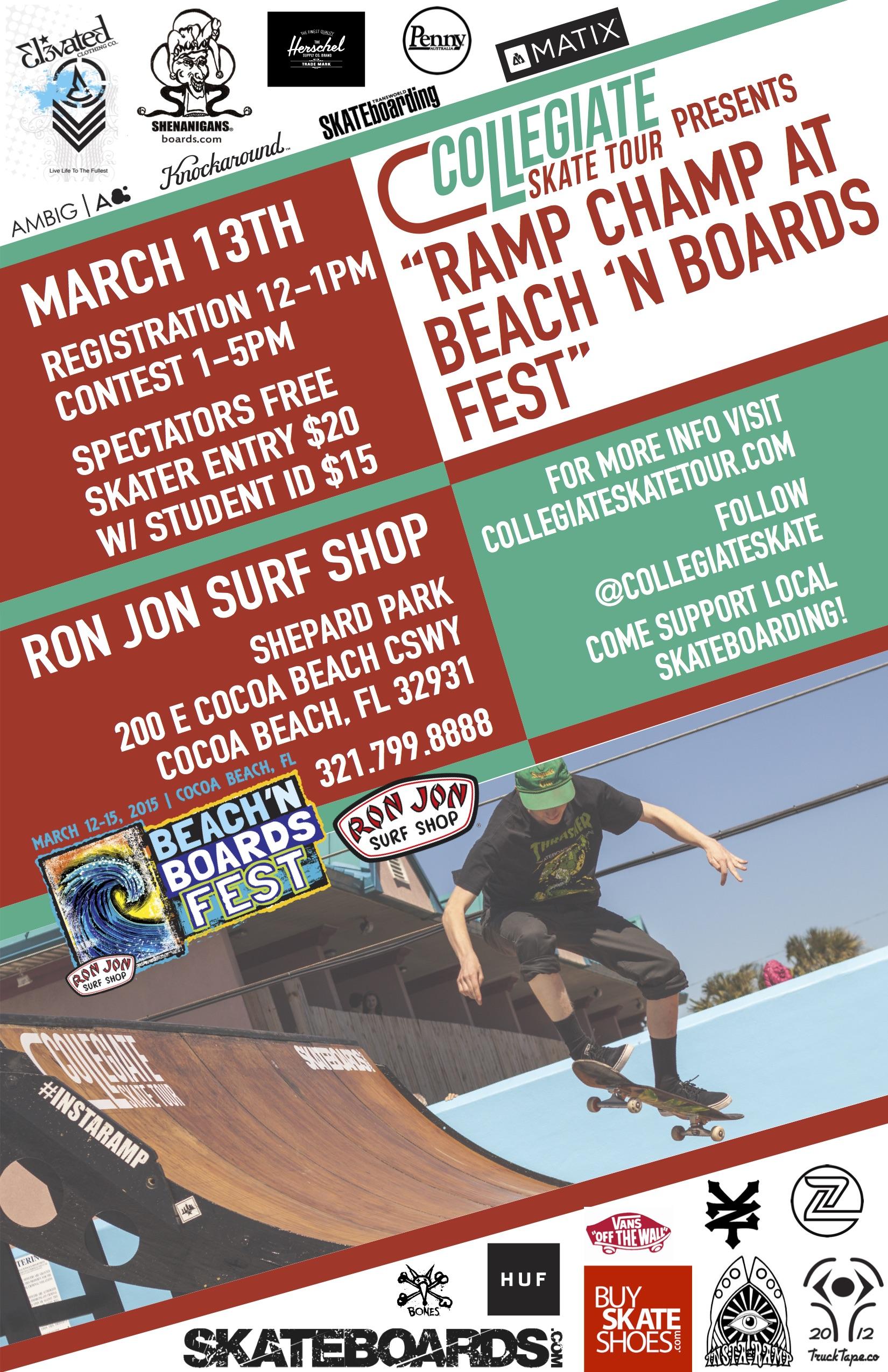 cocoa beach florida collegiate skateboarding tour stop elevated clothing