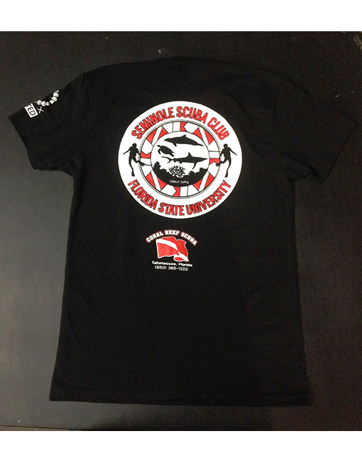 fsu scuba club scuba diving t-shirt