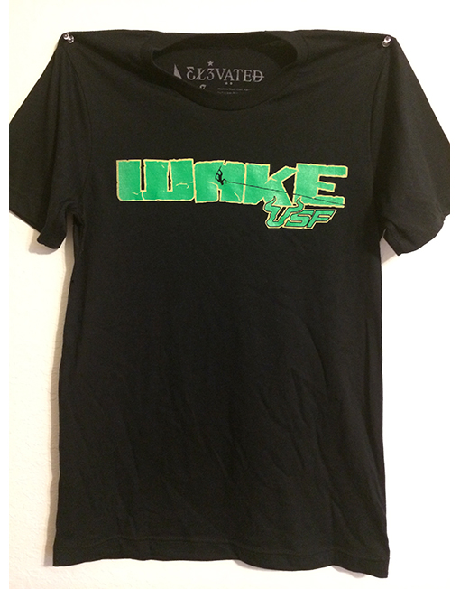 wake usf collegiate wakeboard clothing t-shirt elevated clothing monster energy