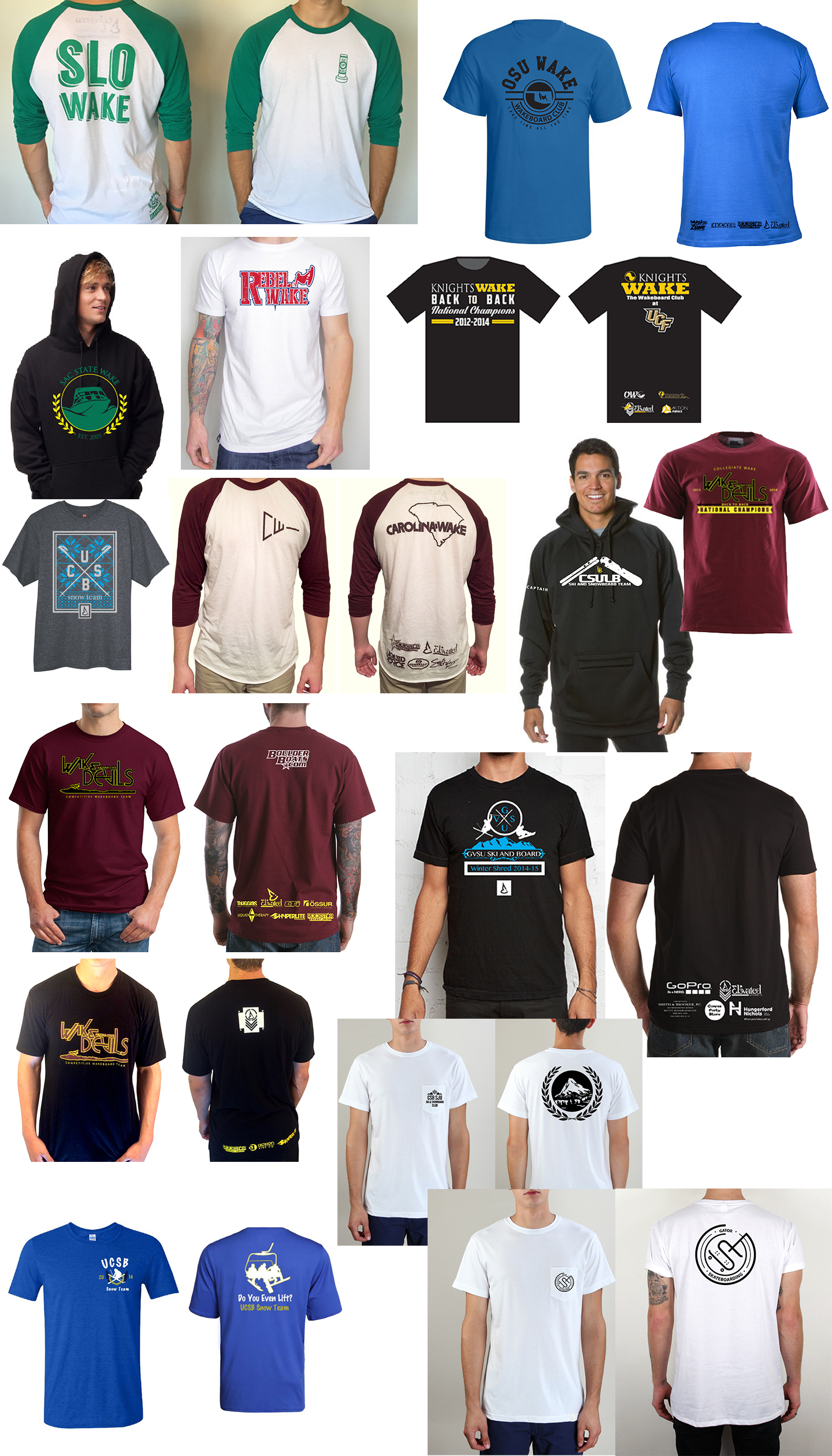 elevated clothing collegiate action sports clubs clothing and apparel