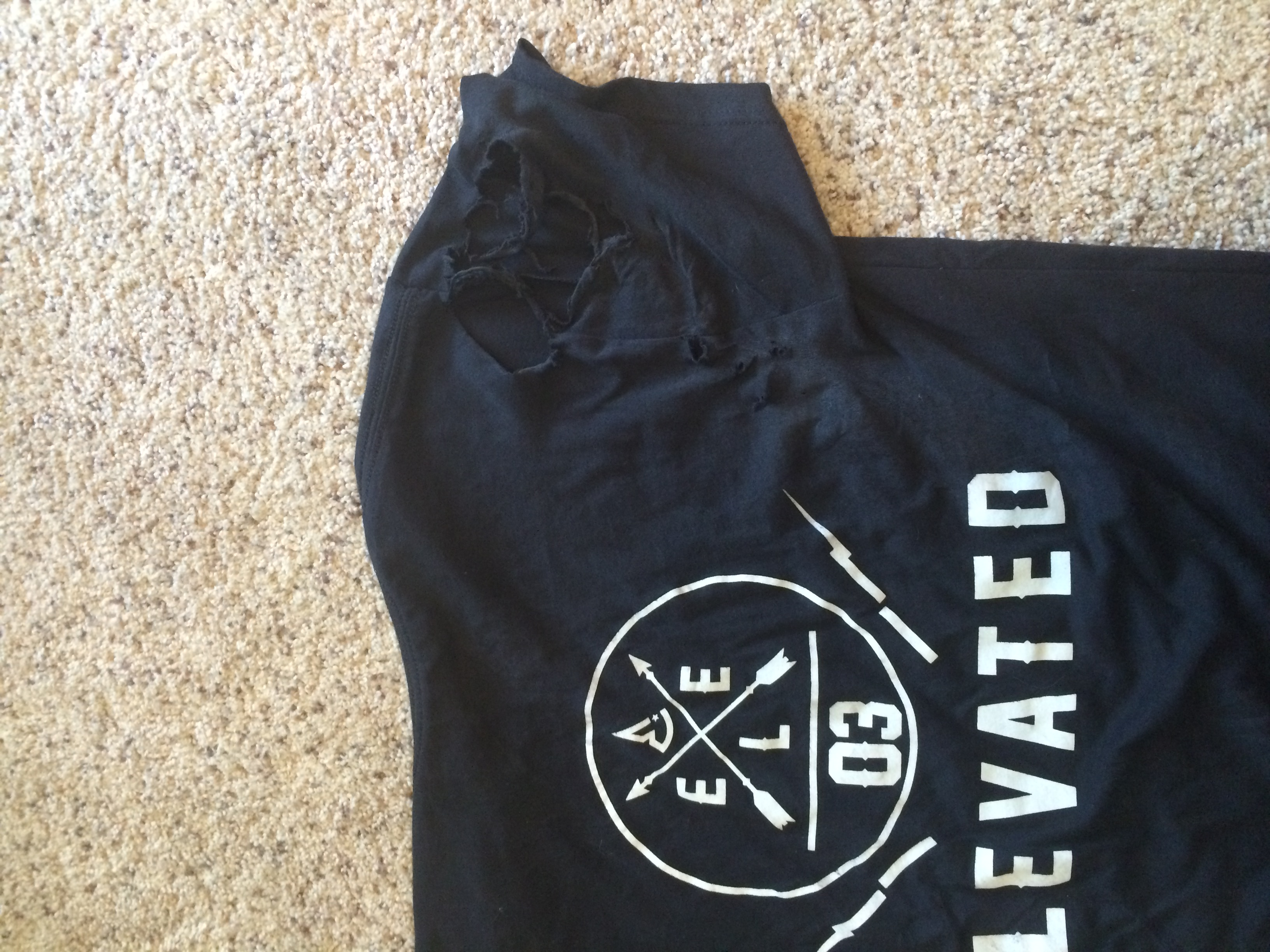 austin oden longboarding accident elevated clothing distressed t-shirt