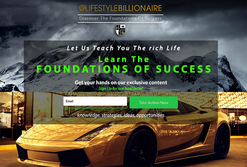 foundations of success lifestyle billionaire how to get rich