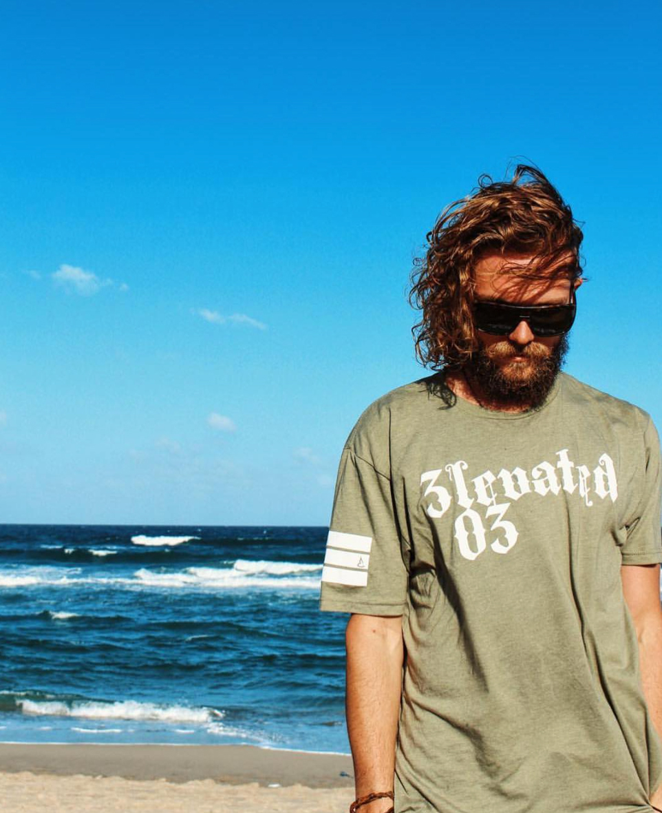 Elevated clothing los angeles streetwear brand 03 LA tee boardsports clothing ocean beach life