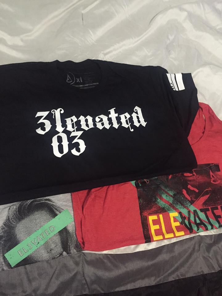 Elevated clothing los angeles streetwear brand 03 LA tee boardsports clothing