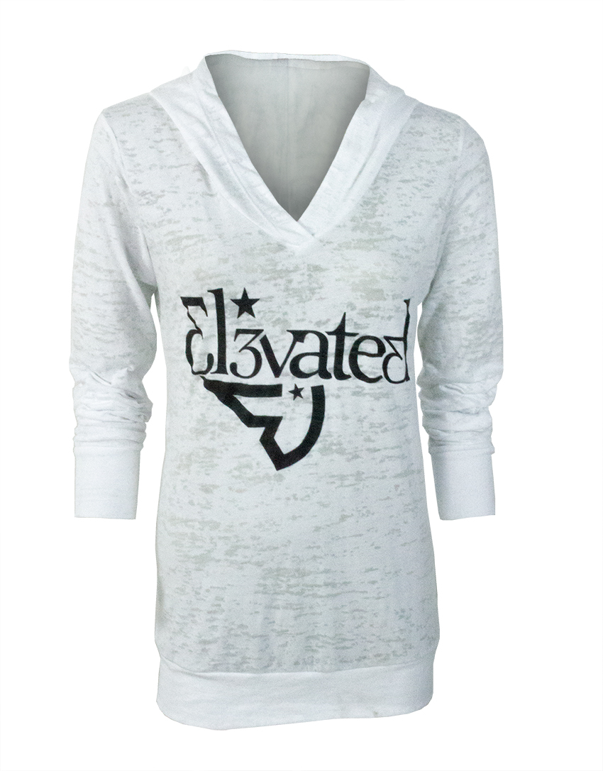 elevated clothing womens soft burnout hoodie limited release