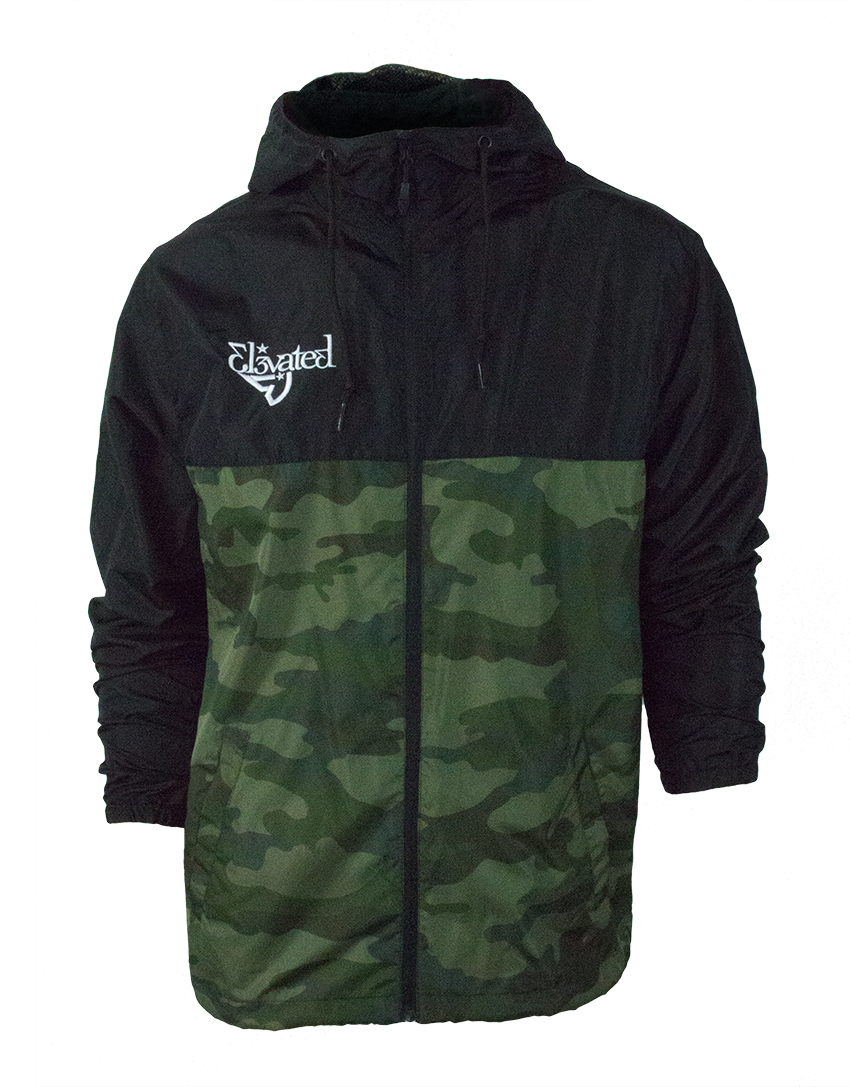 limited edition elevated clothing camo jacket streetwear action sports wakeboarding snowboarding brand
